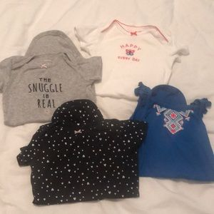 Set of 4 onesies size 12 months
